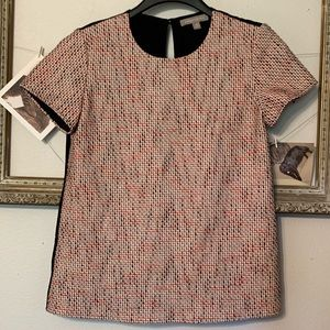 Banana Republic Textured Short Sleeve Blouse XS
